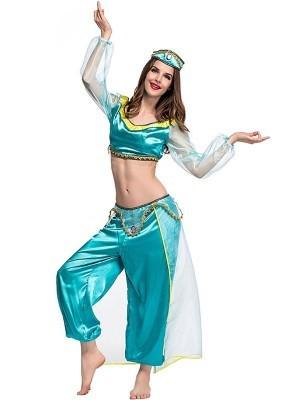 Adult Genie Princess Fancy Dress Costume