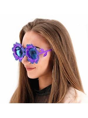 Pretty Coloured Purple Sunflower Sunglasses