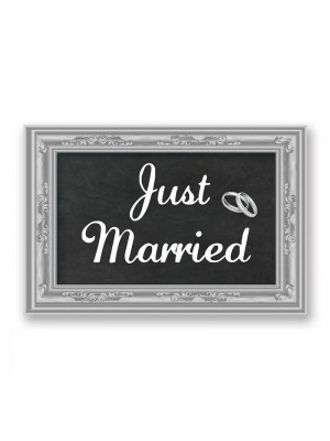 'Just Married' PVC Arrow Word Board Photo Booth Prop