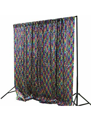 Multi-Coloured Rainbow Sequin Backdrop