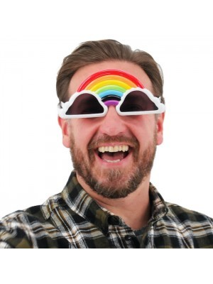 Rainbow With White Cloud Glasses