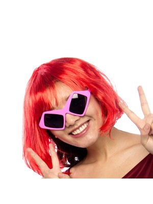Purple Square Eyes Sunglasses