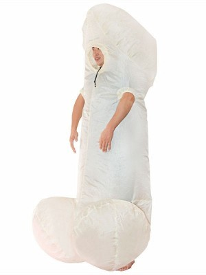 Rude Giant Willy Inflatable Fancy Dress Costume - Nude