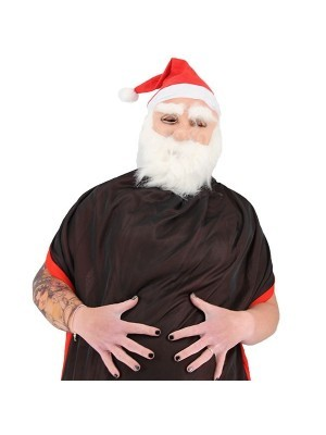 Christmas Fancy Dress Costume Santa Claus Mask and Beard Prop