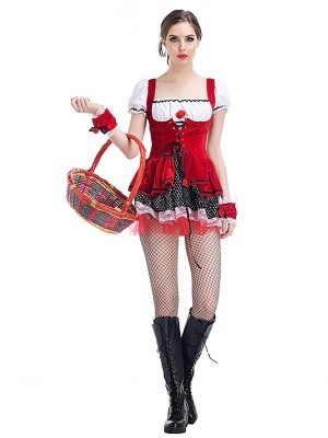Seductive Red Storybook Fancy Dress Costume UK 8