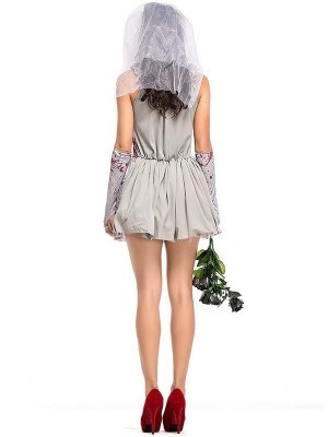 Short 'n' Sexy Killer Bride Halloween Fancy Dress Costume – UK 8
