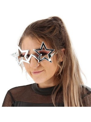 Shiny Silver Star Frame Sunglasses