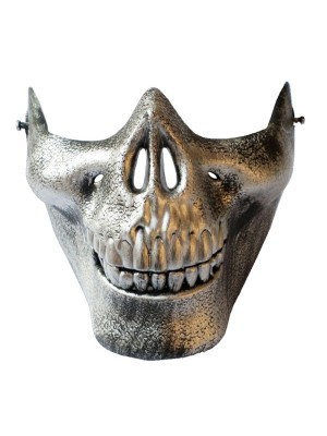 Skeleton Jaw Mask Silver