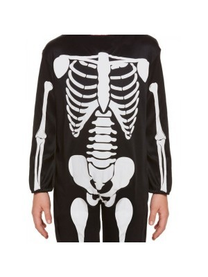 Skeleton Jumpsuit Halloween Kids Fancy Dress Costume - Kids UK 4-6 Years