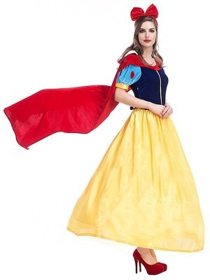 Yellow and Blue Fairytale Princess Fancy Dress Costume