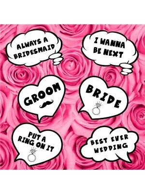 Wedding Speech Bubble Multi Pack of 6