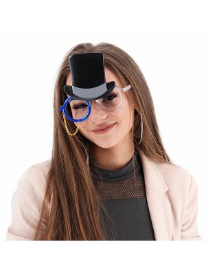 Toffs Top Hat & Blue Monocle Sunglasses