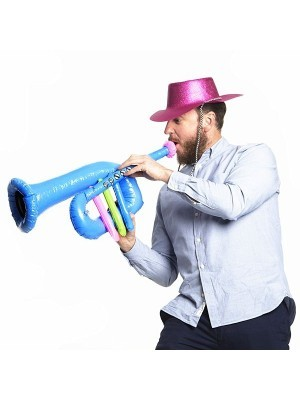 Inflatable Blue Trumpet