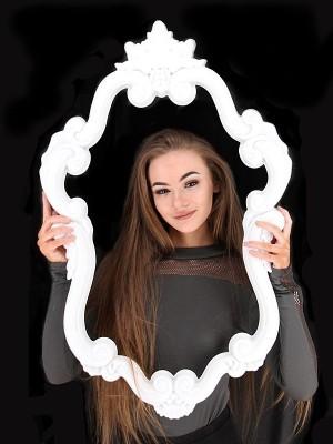 White Vintage Style Posing Frame