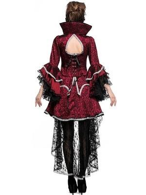 Short Luxury Vampiress Women's Halloween Fancy Dress Costume UK Size 12