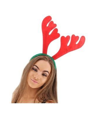 Xmas Felt Reindeer Antler Headband