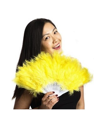 Stunning Yellow Feather Fan