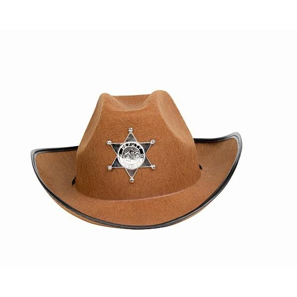 6fd11d3901d75 Cowboy Sheriff Hat Brown - Cowboy Hats - Fancy Dress