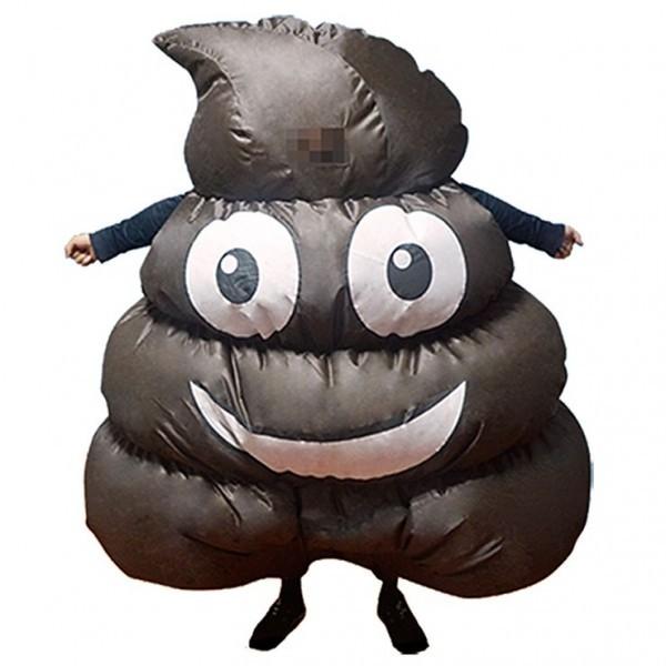 Funny Emoji Poop Inflatable Fancy Dress Costume