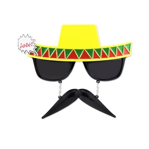 fancy dress costume accessory MEXICAN SOMBRERO HAT CINCO DE MAYO SUNGLASSES