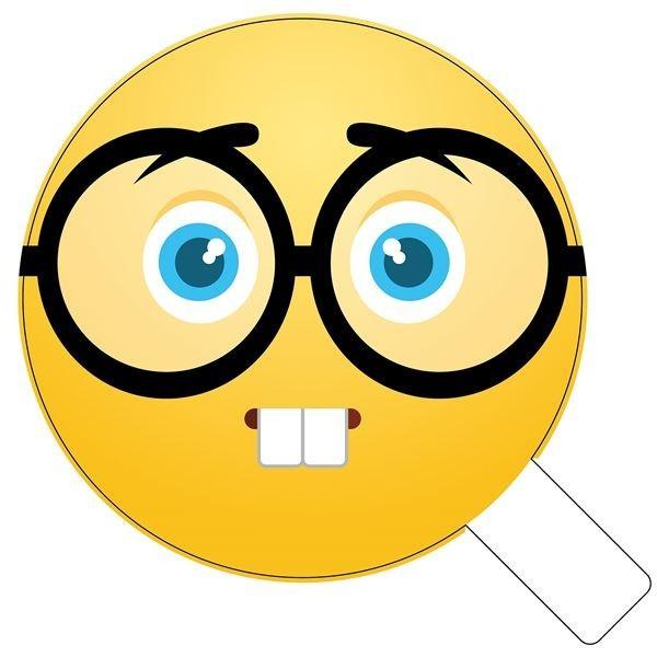 Nerdy Glasses Emoji Photo Booth Prop