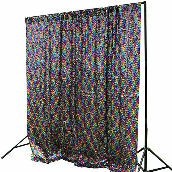 02dfeaae Multi-Coloured Rainbow Sequin Backdrop