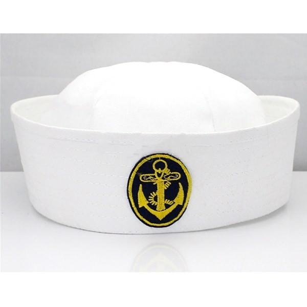 ebd73ea92dc87 Sailors Cap With Badge Black Anchor - Hilarious Hats - Fancy Dress